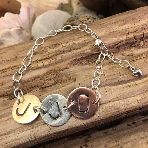 Build-Your-Own Initials Bracelet (deposit)