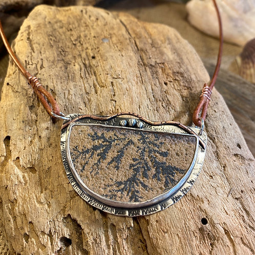 Dendritic Sandstone Necklace