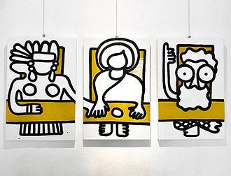 Antonella Mellini, LAST (2020) triptych, acrylic and plexiglass artwork