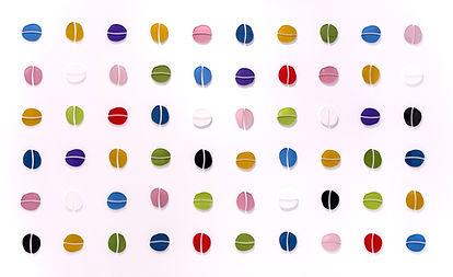 Antonella Mellini, CELLS (2020) triptych, acrylic and plexiglass artwork