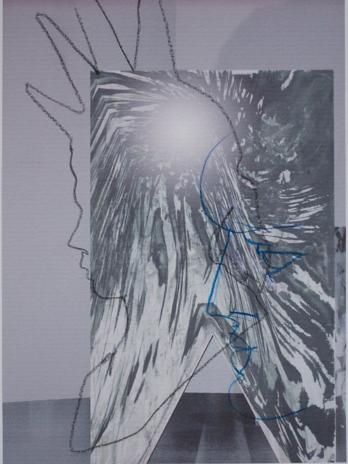 LEO CASTANEDA. 'COLLAGE DRAWING COMBINED RENDER A'