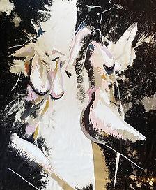 Meg Gallagher, SENSUAL (2020), artwork on denim