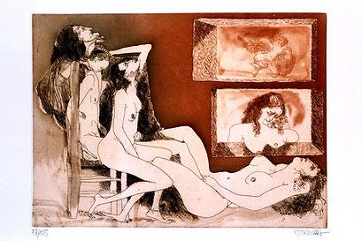 Oscar Estruga, Erotica series (1987), engravings and prints available