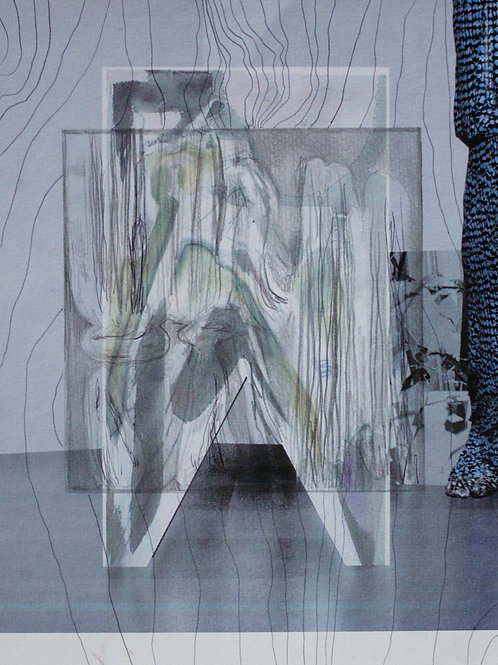LEO CASTANEDA. 'COLLAGE DRAWING COMBINED RENDER C'
