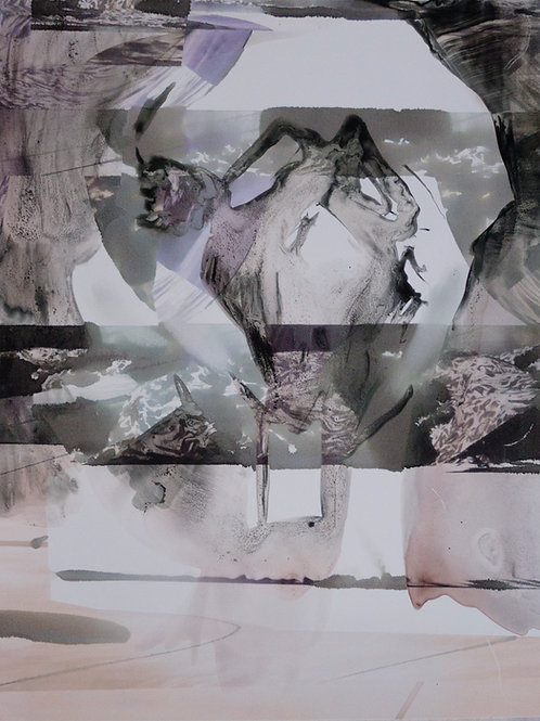 LEO CASTANEDA. 'COLLAGE DRAWING COMBINED RENDER E'