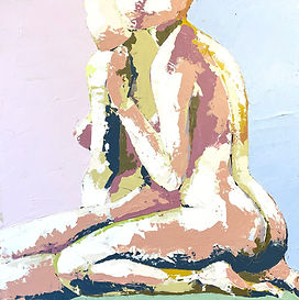 Meg Gallagher, STAY CLOSE (2020), acrylic artwork on canvas