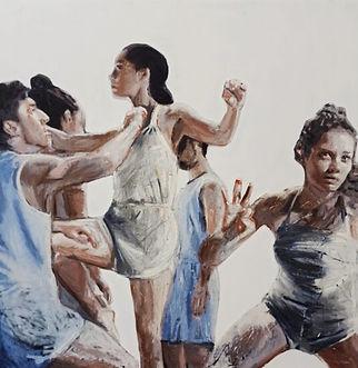 Silvia Berton, Dancer (2019), oil painting artwork
