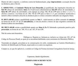 Ex-prefeita de Capanema Lindamir Denardin é absolvida em processo por ameaça contra Procurador
