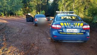 PRF apreende dois veículo carregados com cigarros em Capitão Leônidas Marques/PR
