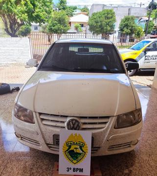 Polícia Militar recupera veículo furtado com rádio comunicador acoplado