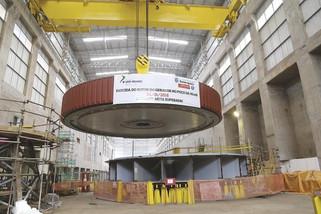 Governadora assiste hoje a descida do Rotor da última Unidade Geradora da Usina Baixo Iguaçu