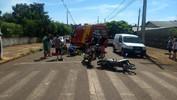 Homem fica ferido em acidente envolvendo duas motocicletas em Capanema