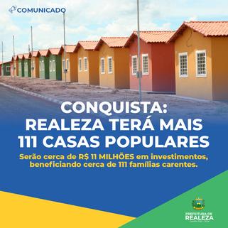 Prefeitura de Realeza garante 111 casas populares