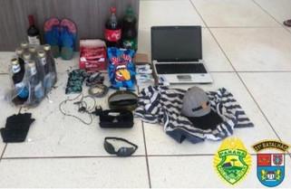 Polícia Militar de Capanema prende autor de furto em estabelecimento comercial