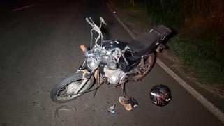 Condutor de motocicleta vítima de grave acidente na PR-566 morre no hospital