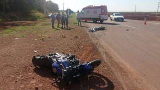 Motociclista morre em acidente de trânsito na rodovia PR 182