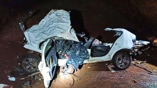 Irmãs morrem em grave acidente entre carro e ônibus na BR-369