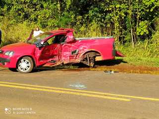 Dois feridos em grave acidente na PR-281 entre Realeza e Planalto