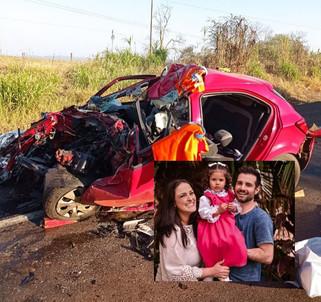 Casal e filha morrem em grave acidente na BR-282