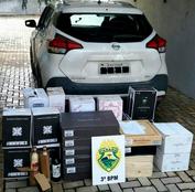 Polícia Militar apreende veículo carregado com vinho argentino