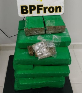 BPFron apreende 21 quilos de maconha em ônibus em Realeza