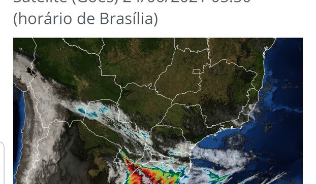 Simepar prevê temporal nas regiões Oeste e Sudoeste