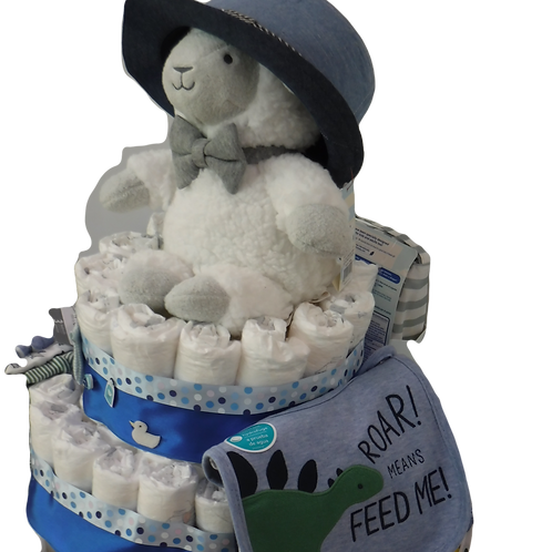 The Handsome Well-Dressed Baby Boy Cake