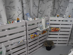 Snack and Supplies Wall