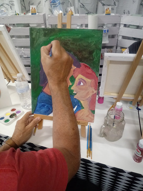 Private Day Painting Class with Snacks For Four Adults