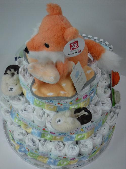 Sassy Fox Baby Unisex Cake