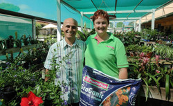 Milton Vadoulis filming at the Whyalla Garden Centre in 2014
