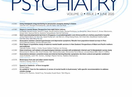Call for Papers: Asia-Pacific Psychiatry Special Issue on Transcultural Psychotherapy