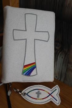 Gotteslobhülle Regenbogen Reißverschluss
