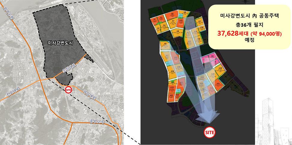하남 지식산업센터 주변 비교미사 강변도시