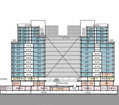하남 지식산업센터 층별 용도별 면적 및 단면도/층별 평면도