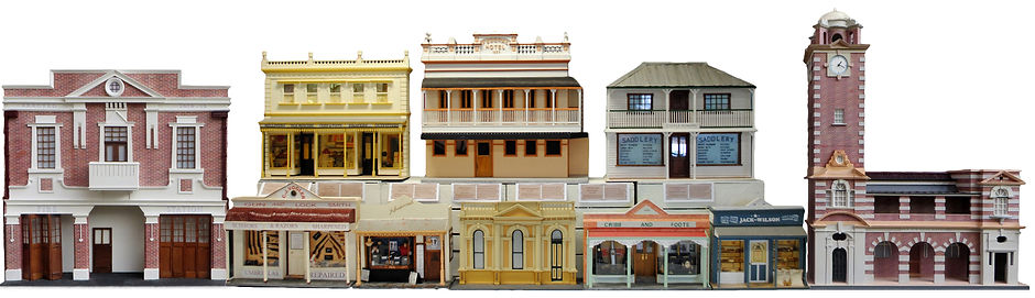 Scale models of building in Ipswich, Qld