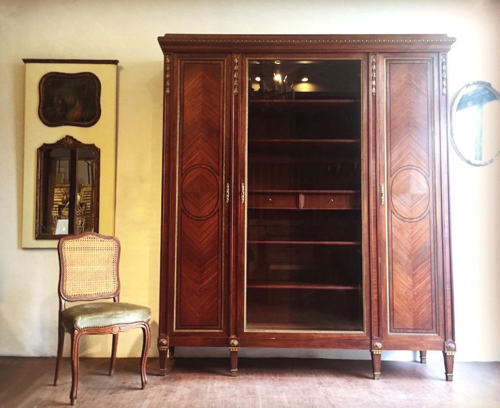 法國 Art Deco 黃銅玻璃鏡櫃