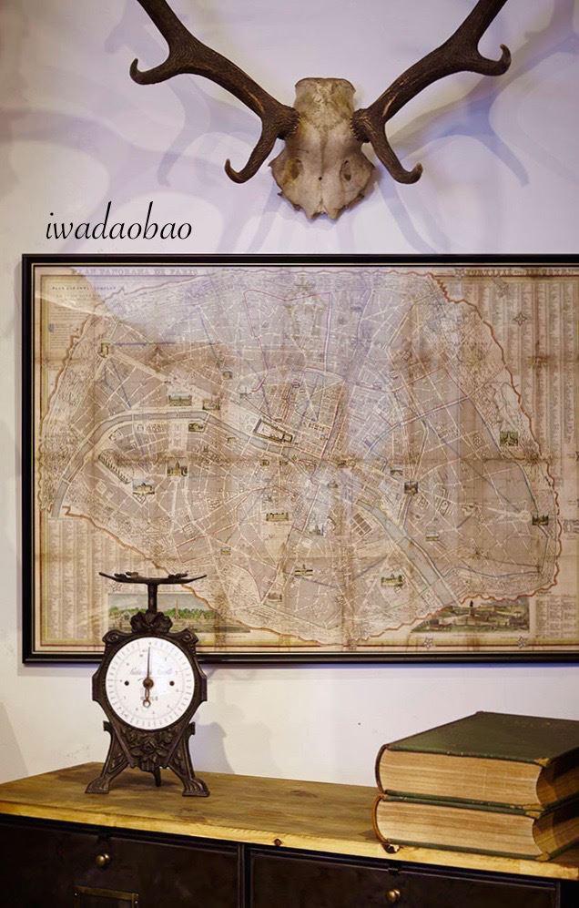 法國 19 ~ 20 世記的古董地圖