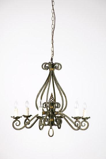 法國路易 XV 鍛鐵古董吊燈