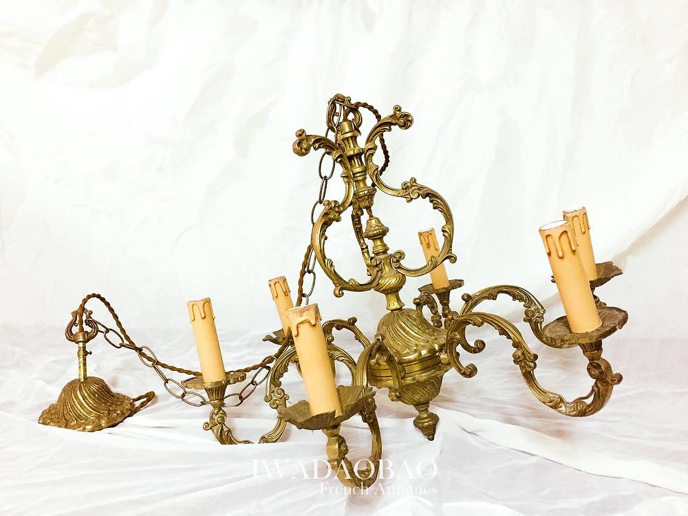 法國 Louis XV 黃銅燈具