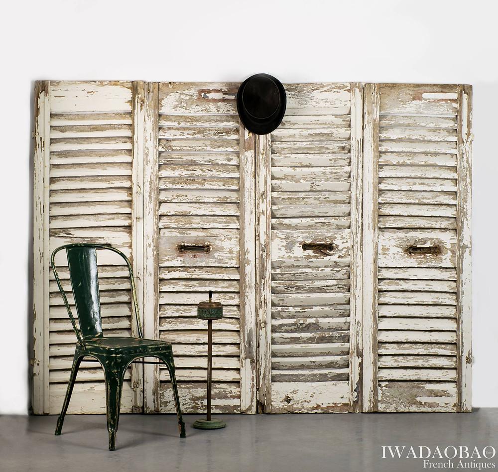法國古董松木百葉窗