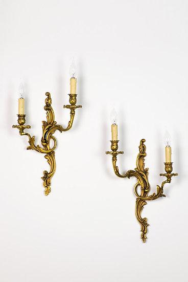 法國路易 XV 古董壁燈