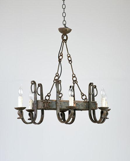 法國古董鍛鐵吊燈