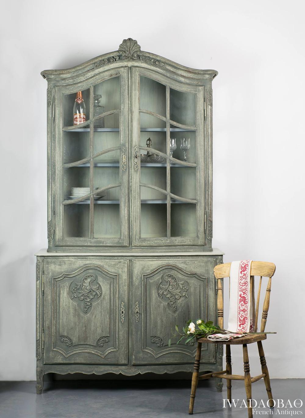 法國路易 XV 古董展示櫃