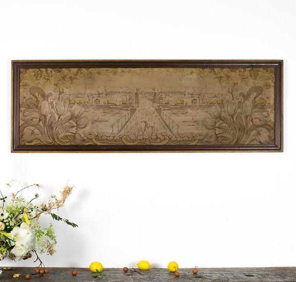 法國手工針織古董壁畫