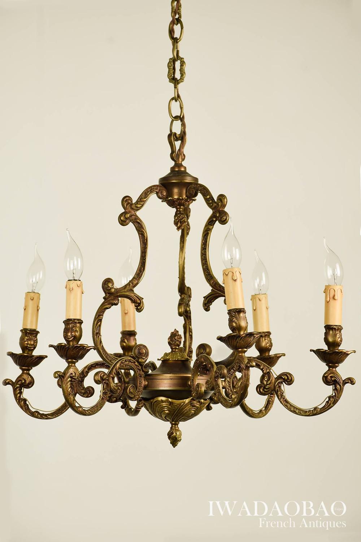 法國 Empire 黃銅吊燈