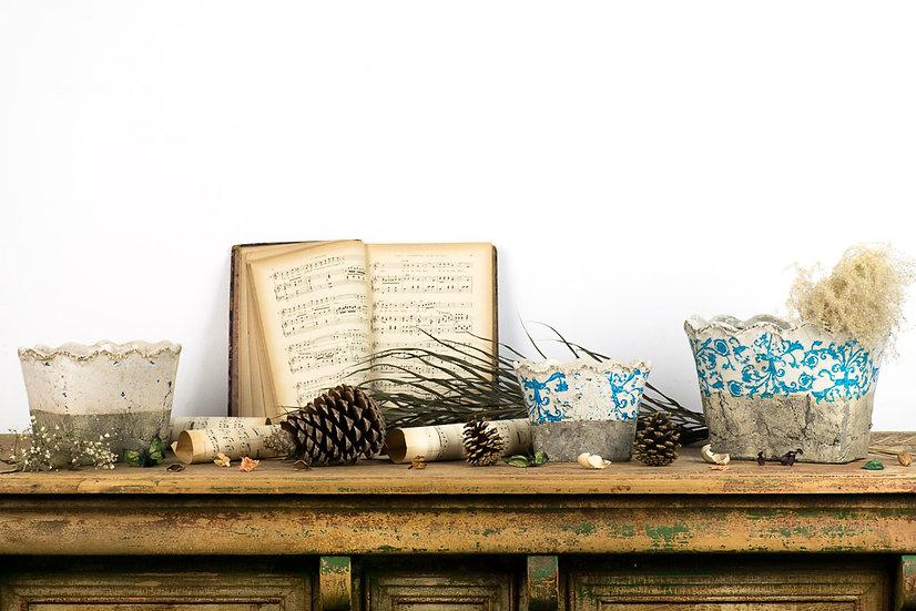 歐洲法國古董珐瑯花器