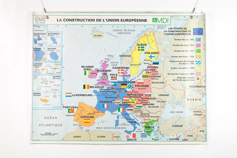 歐洲法國學校雙面地圖
