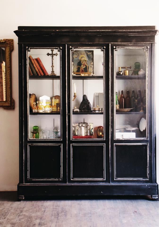 法國 Louis Philippe 玻璃古董櫃