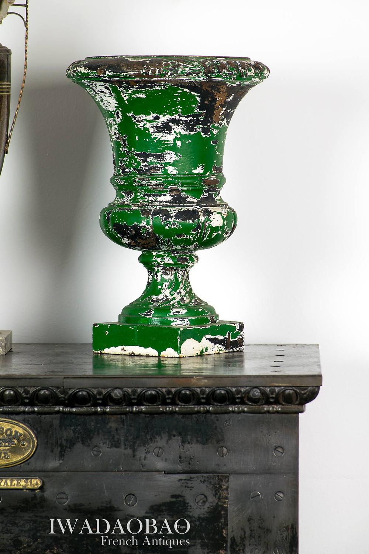 法國鑄鐵古董花器
